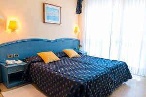 Dettaglio letto e camera di Hotel Principe Bibione